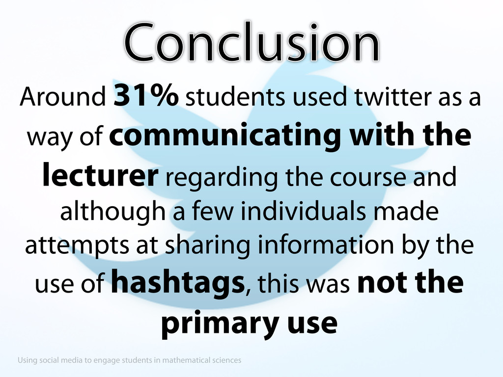 Using social media to engage students in mathem...