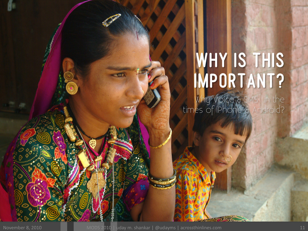 WHY IS THIS IMPORTANT? Why Voice & SMS in the t...