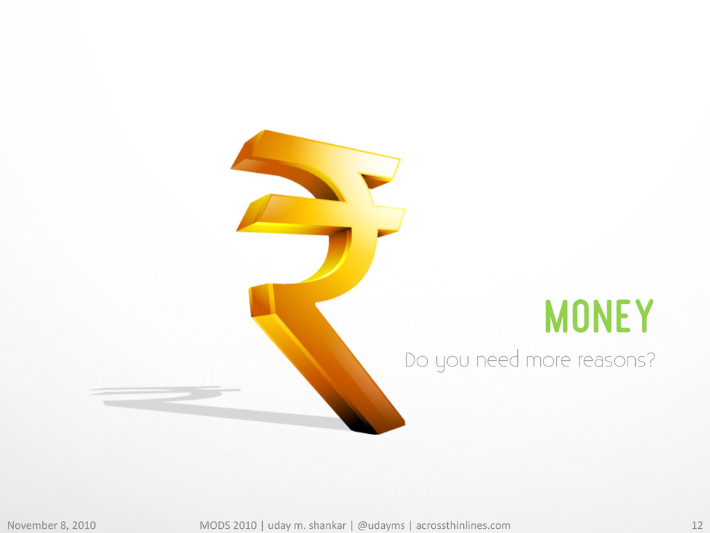 MONEY Do you need more reasons? November 8,...