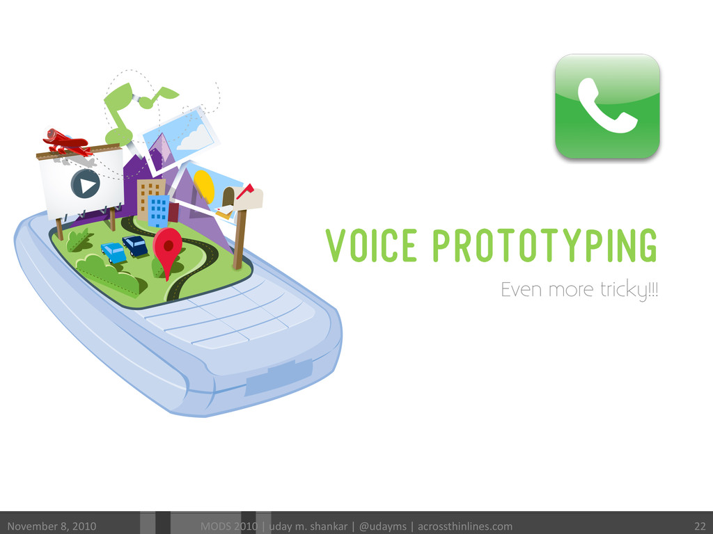 VOICE PROTOTYPING Even more tricky!!! November...