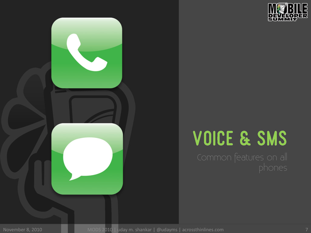 VOICE & SMS Common features on all phones Novem...