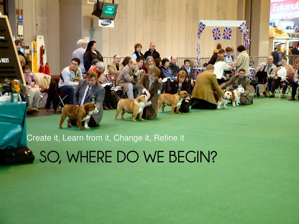 SO, WHERE DO WE BEGIN? SO, WHERE DO WE BEGIN? C...