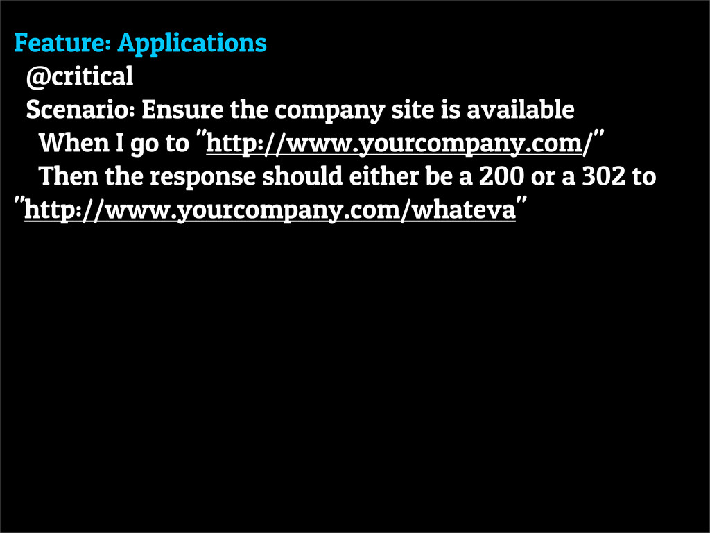 Feature: Applications @critical Scenario: Ensur...