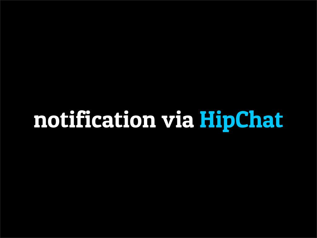 notification via HipChat