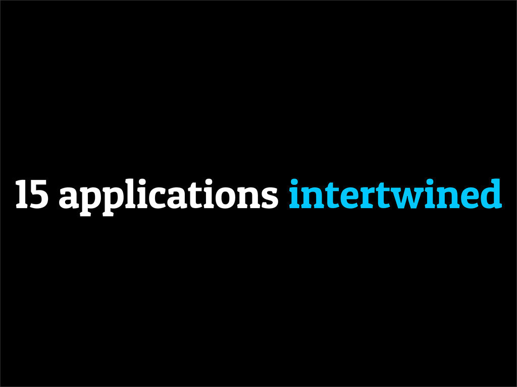 15 applications intertwined