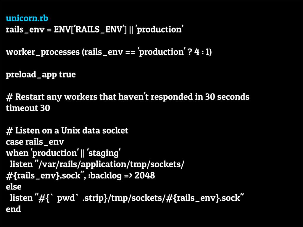 unicorn.rb rails_env = ENV['RAILS_ENV'] || 'pro...