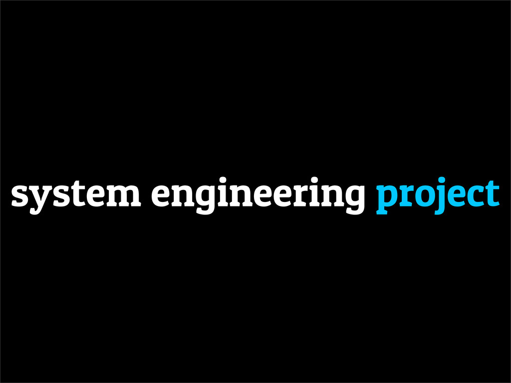 system engineering project