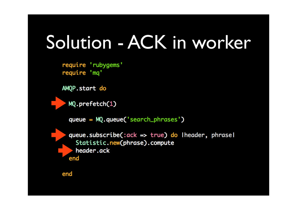 Solution - ACK in worker