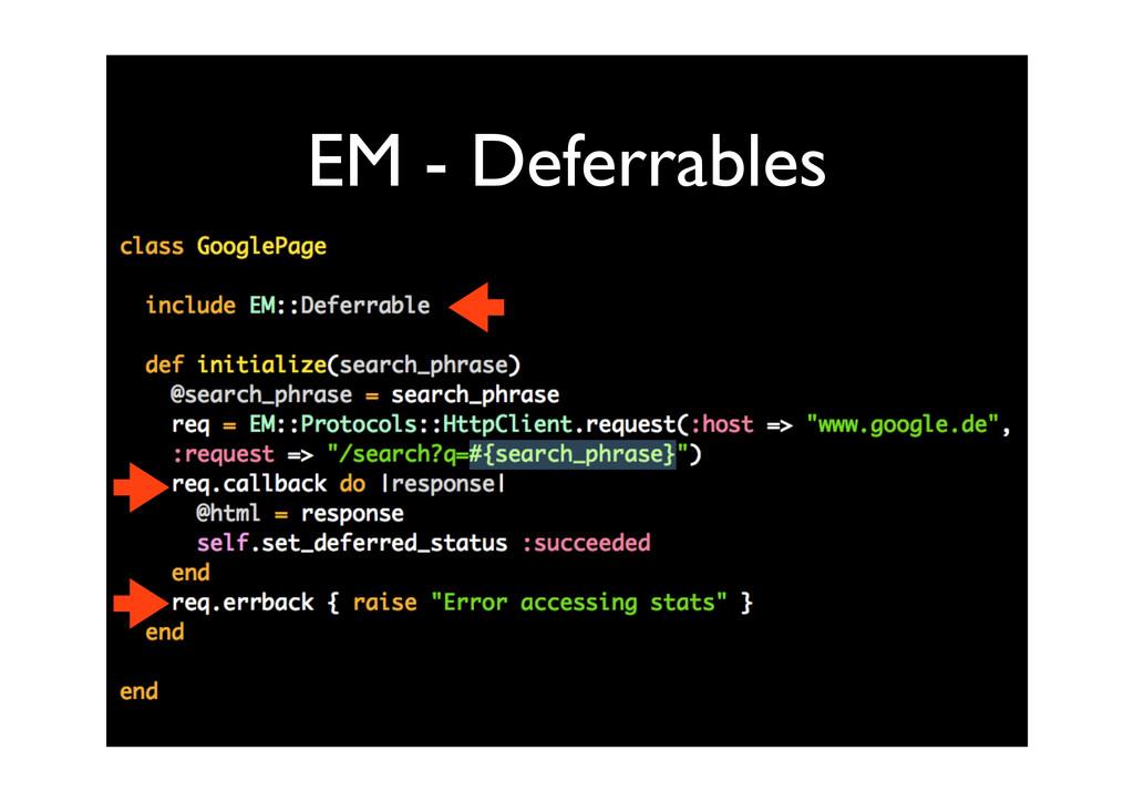 EM - Deferrables