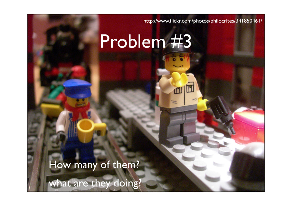 Problem #3 How many of them? what are they doin...