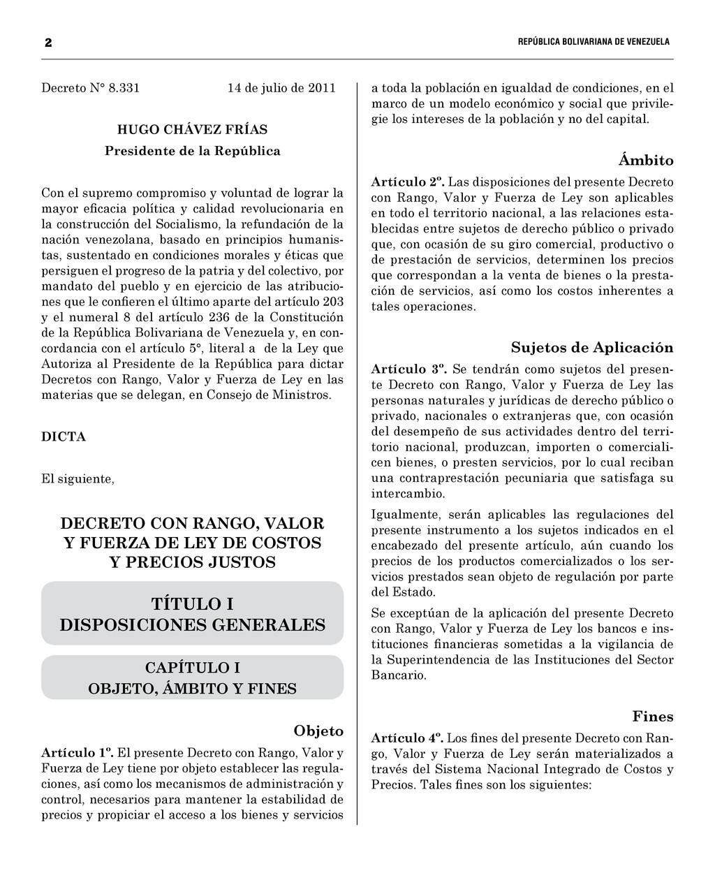 2  REPÚBLICA BOLIVARIANA DE VENEZUELA...