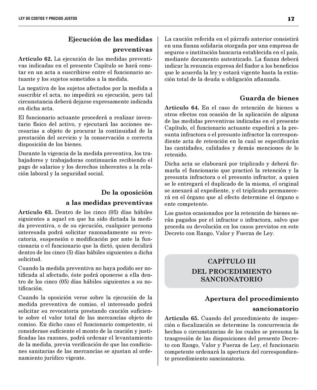 17 LEY DE COSTOS Y PRECIOS JUST...