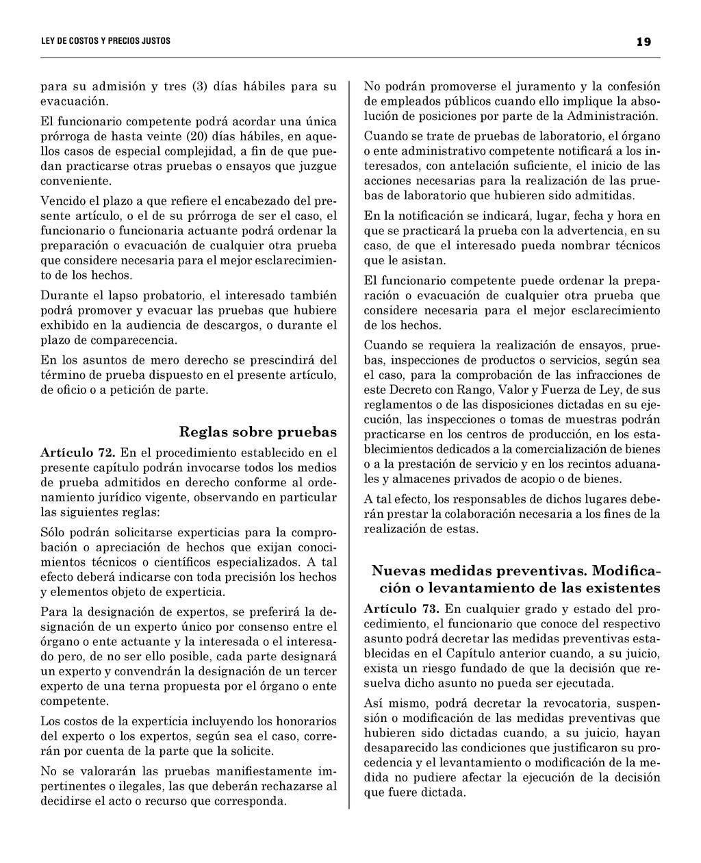 19 LEY DE COSTOS Y PRECIOS JUST...