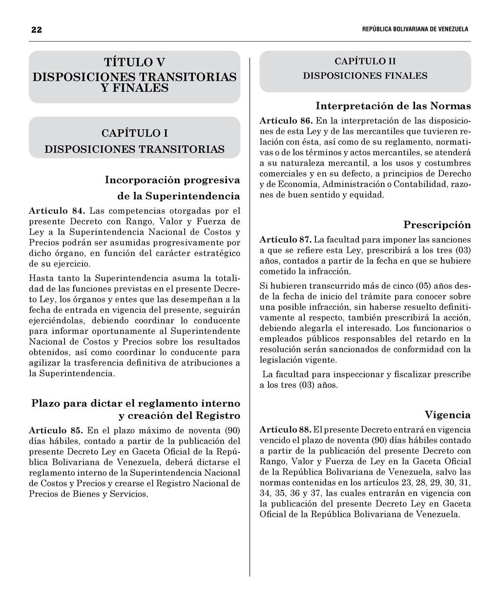22  REPÚBLICA BOLIVARIANA DE VENEZUEL...