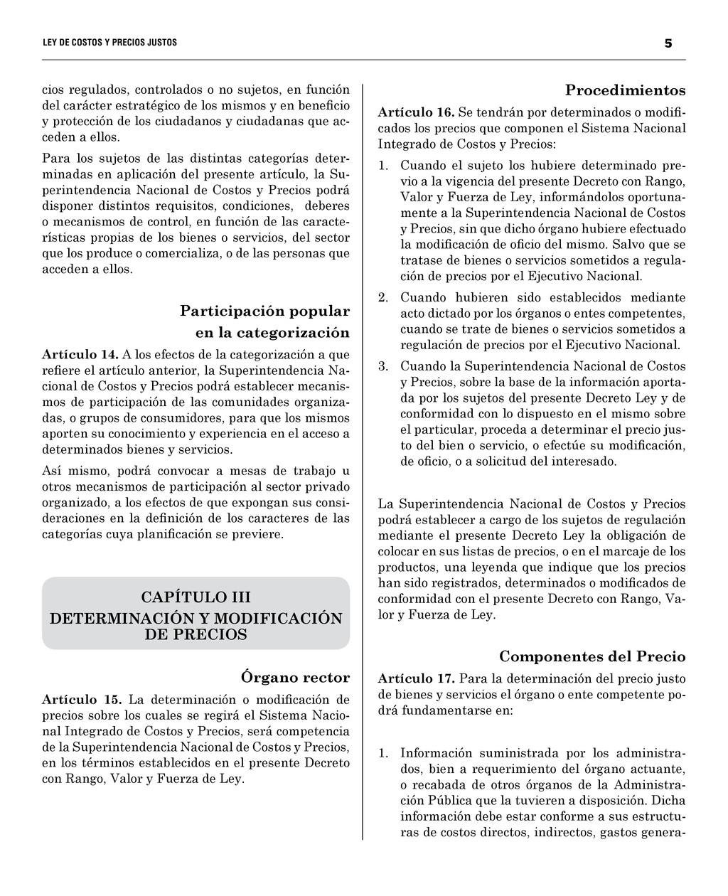 5 LEY DE COSTOS Y PRECIOS JUSTO...