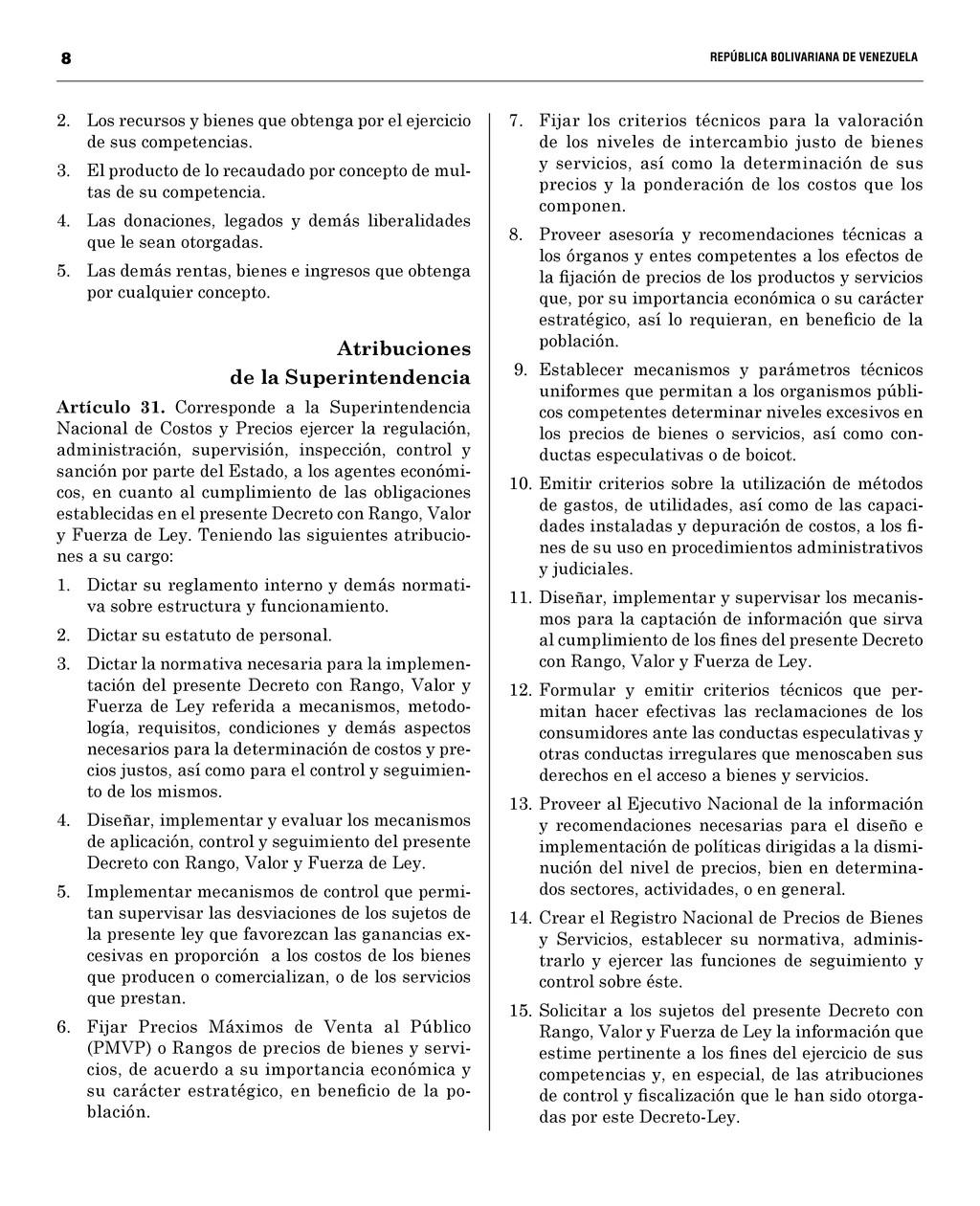 8  REPÚBLICA BOLIVARIANA DE VENEZUELA...