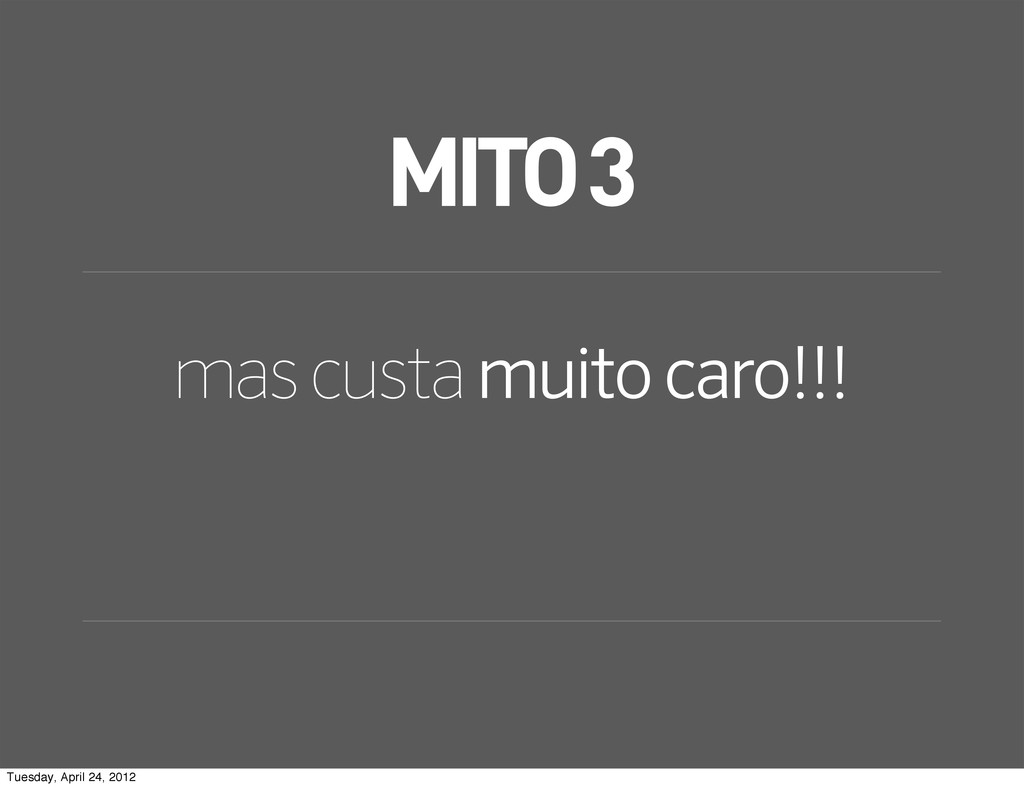 MITO 3 mas custa muito caro!!! Tuesday, April 2...