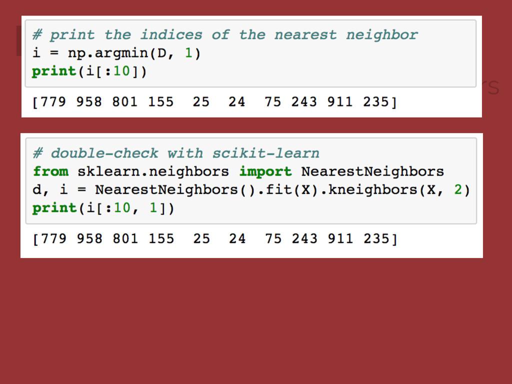Example: Computing Nearest Neighbors