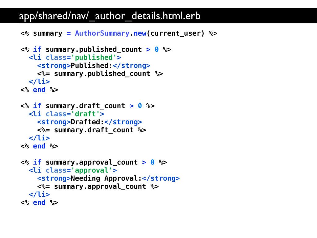 <% summary = AuthorSummary.new(current_user) %>...