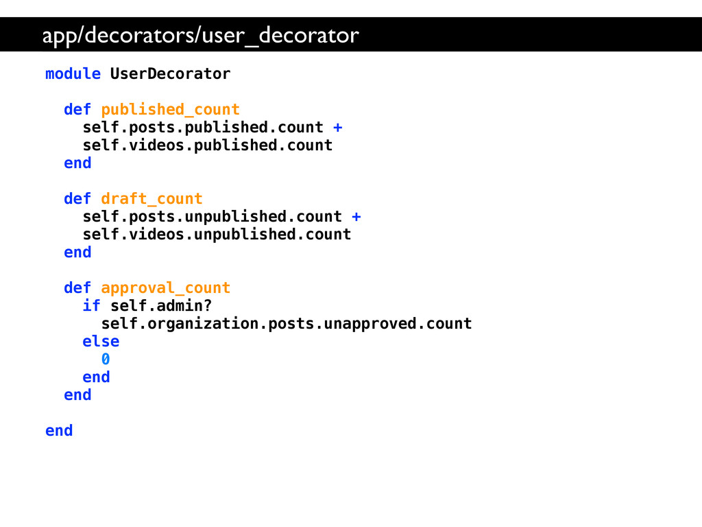 module UserDecorator def published_count self.p...