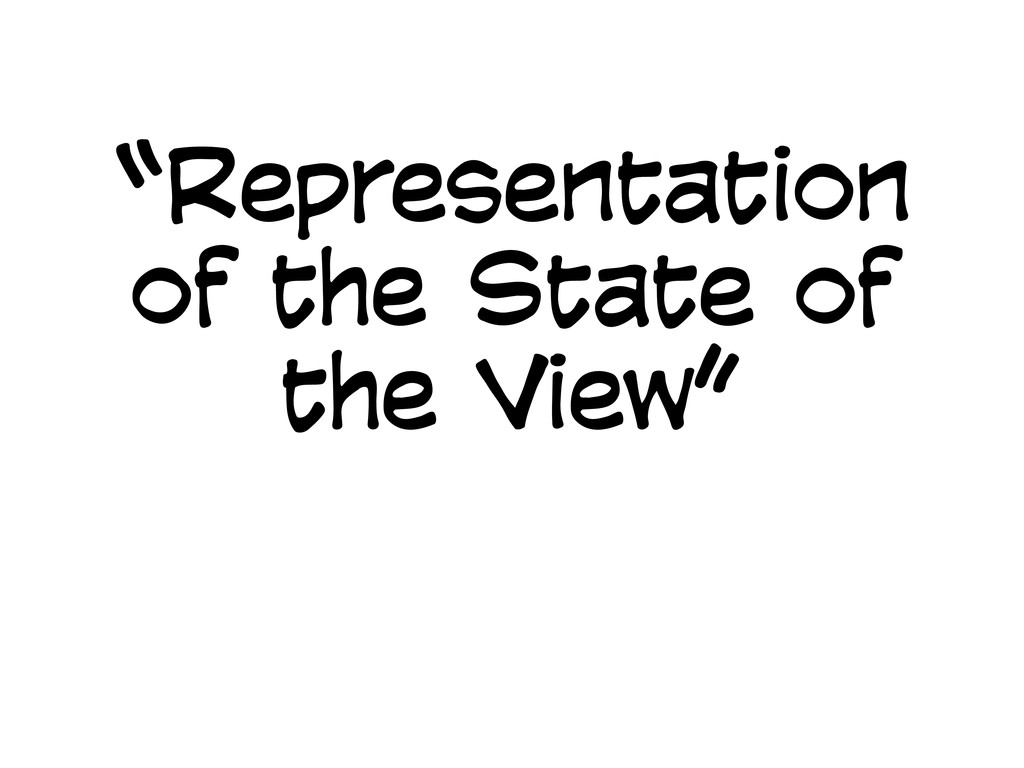 """Representation of the State of the View"""