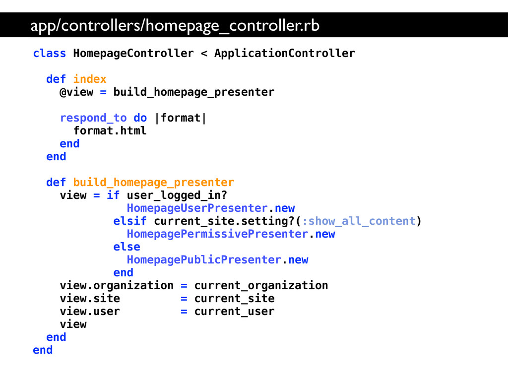 class HomepageController < ApplicationControlle...