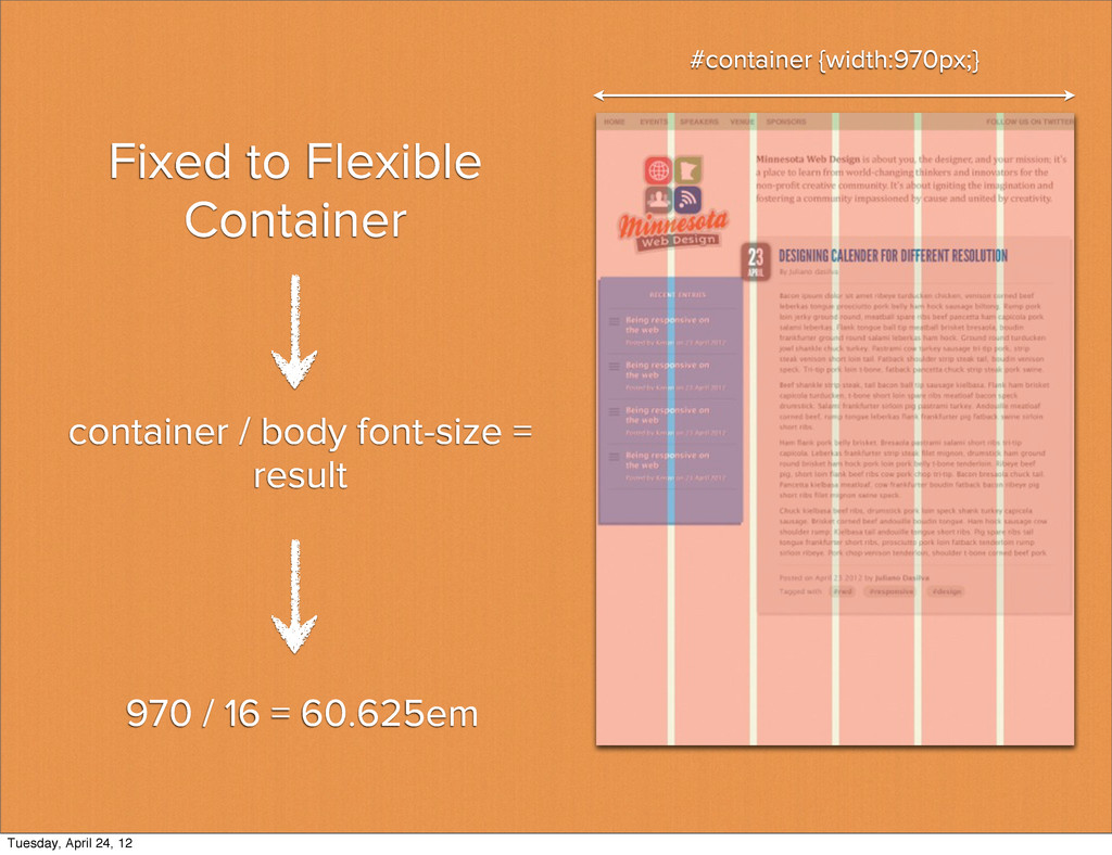 Fixed to Flexible Container 970 / 16 = 60.625em...