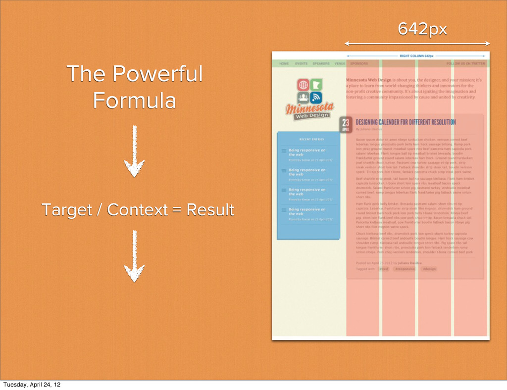 The Powerful Formula 642px Target / Context = R...