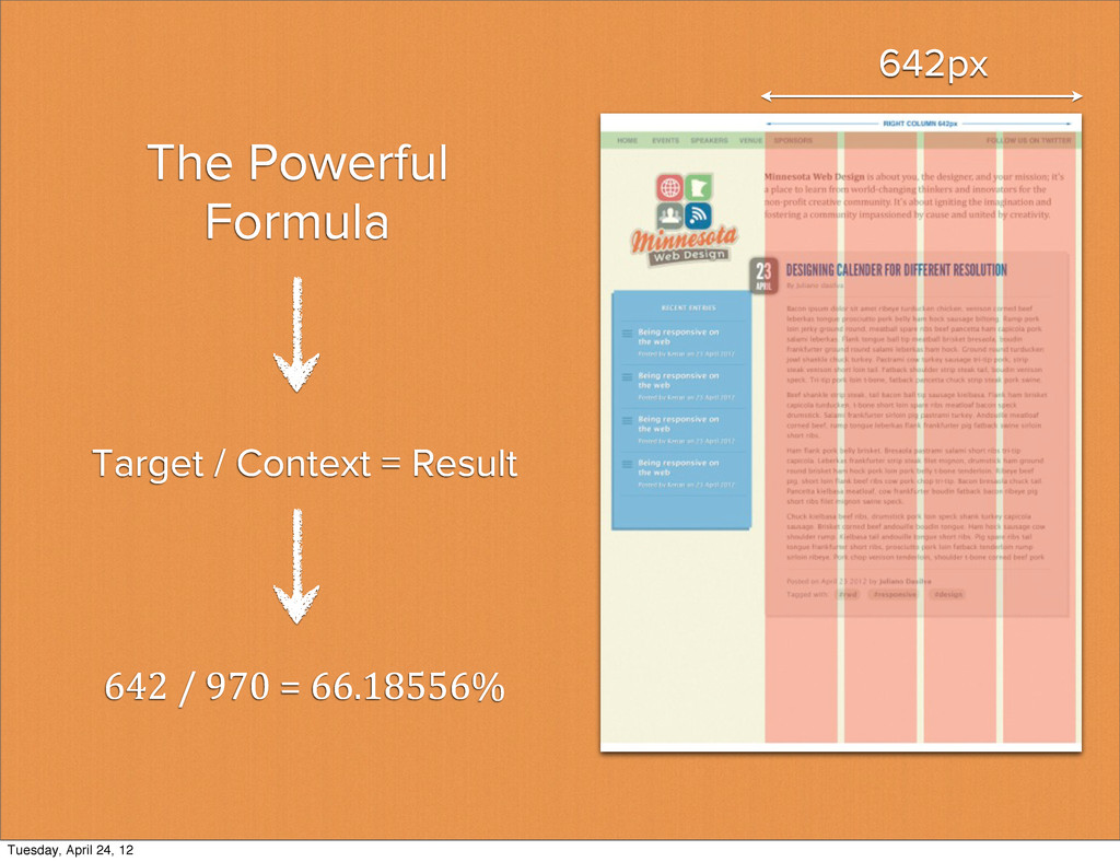 The Powerful Formula 642 / 970 = 66...