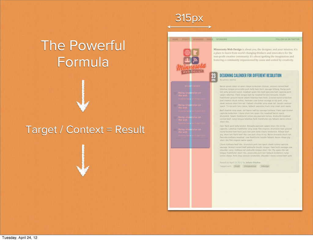The Powerful Formula 315px Target / Context = R...