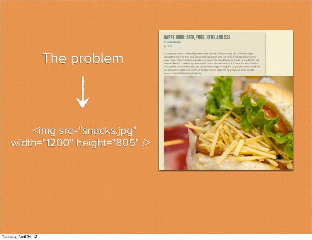 "The problem <img src=""snacks.jpg"" width=""1200"" ..."