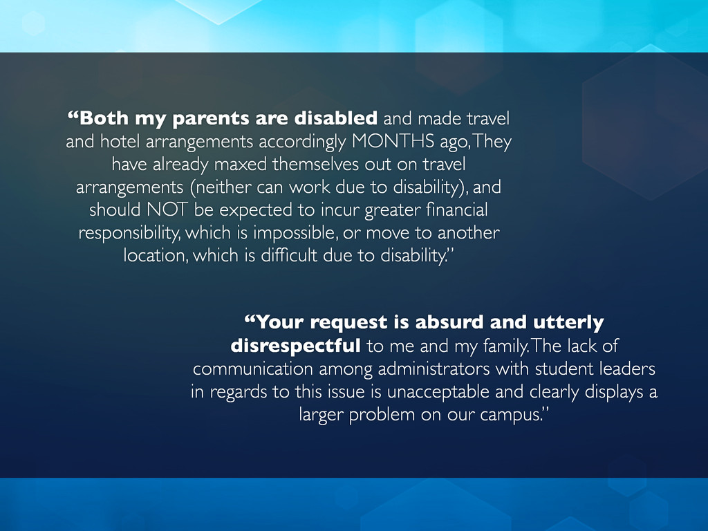 """""""Both my parents are disabled and made travel a..."""