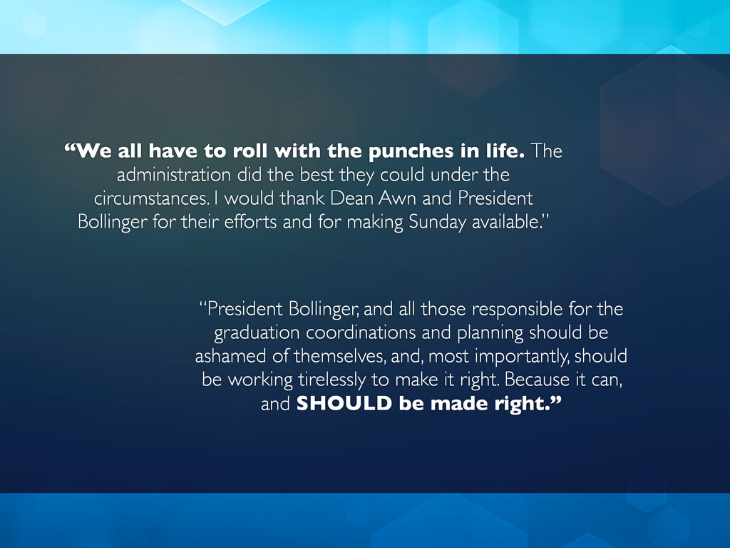 """""""We all have to roll with the punches in life. ..."""