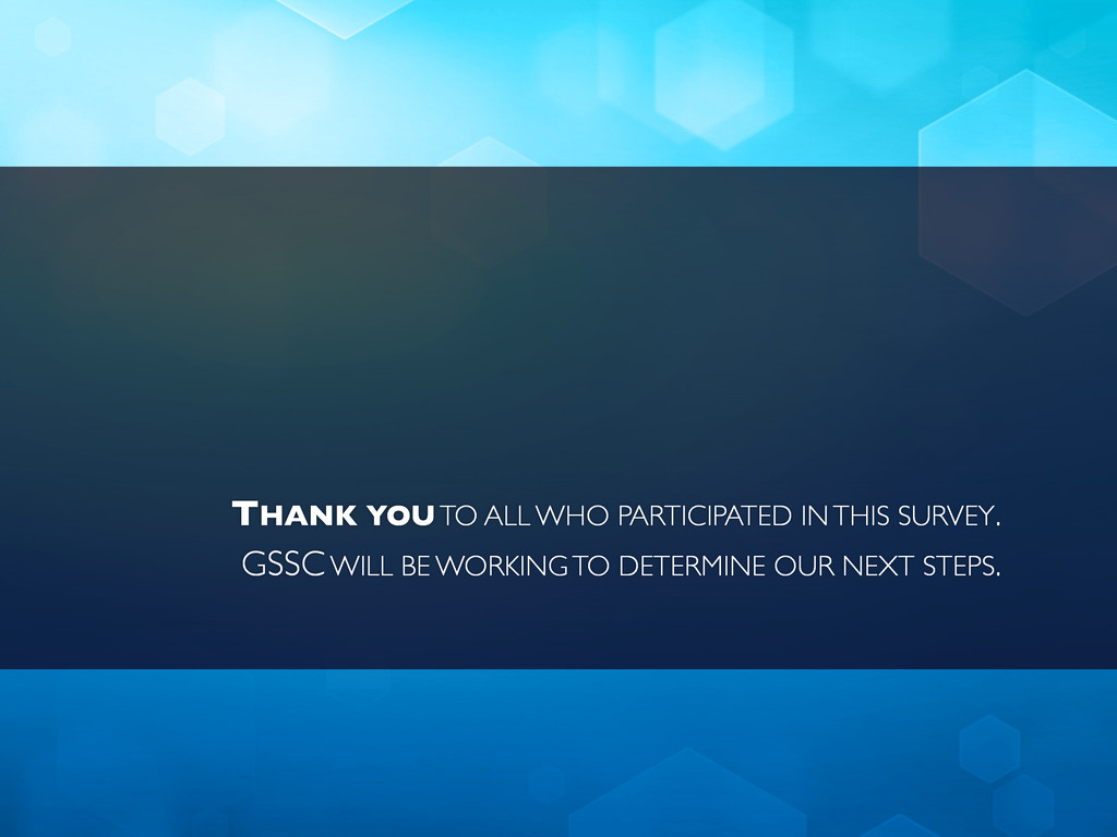 THANK YOU TO ALL WHO PARTICIPATED IN THIS SURVE...