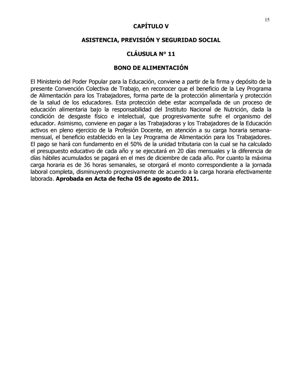 15 CAPÍTULO V ASISTENCIA, PREVISIÓN Y SEGURIDAD...