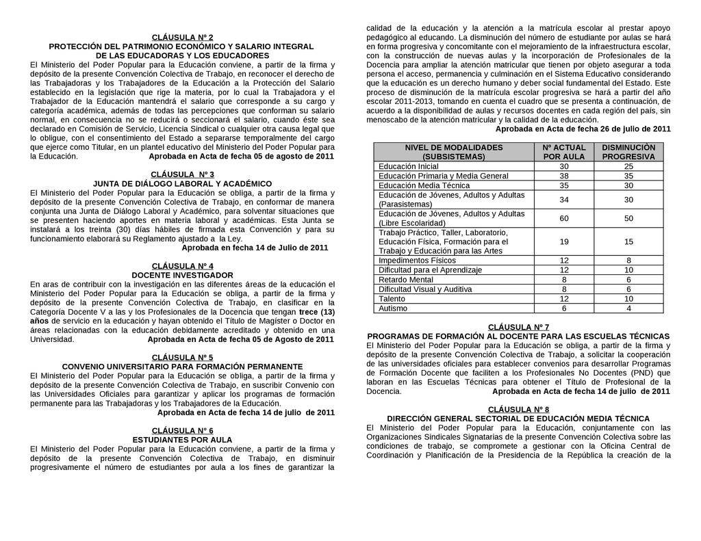CLÁUSULA Nº 2 PROTECCIÓN DEL PATRIMONIO ECONÓMI...