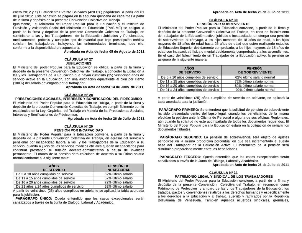 enero 2012 y c) Cuatrocientos Veinte Bolívares ...