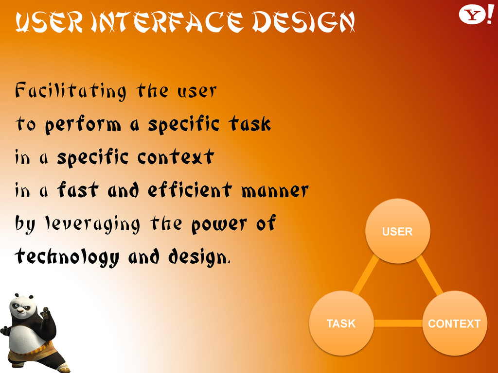 User Interface Design Facilitating the user to ...