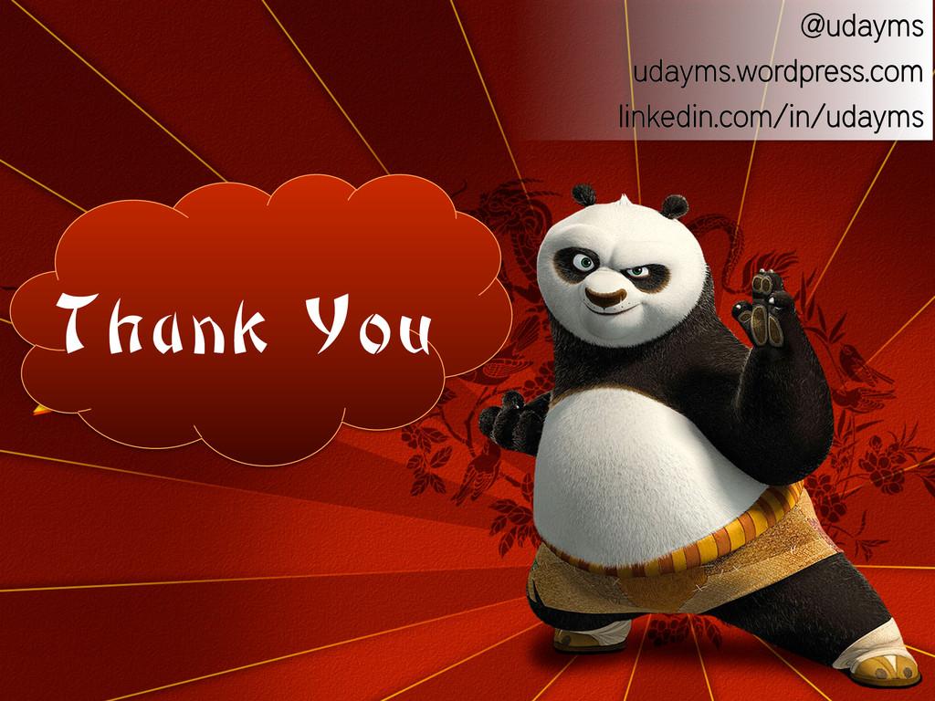 Thank You @udayms udayms.wordpress.com linkedin...