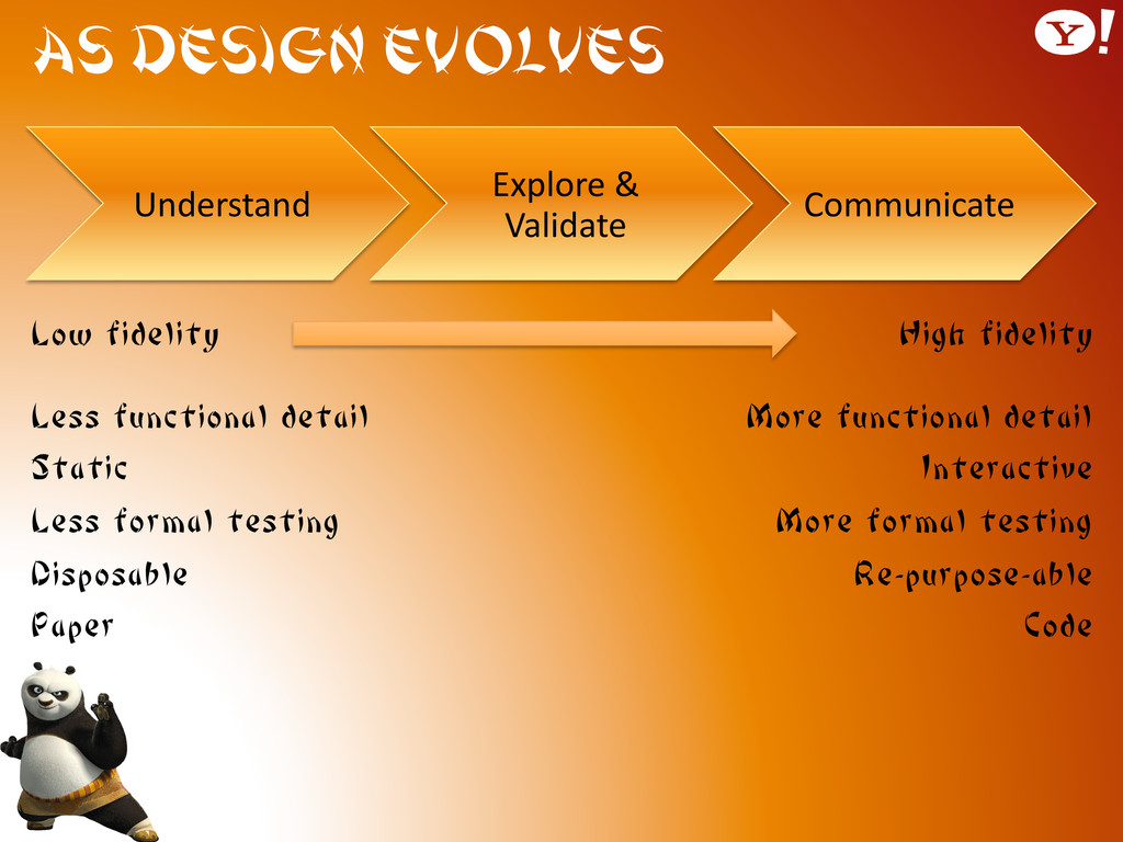 As Design Evolves Low fidelity Less functional ...