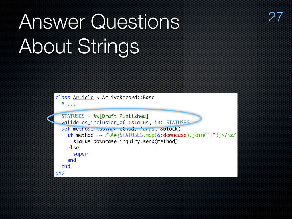 Answer Questions About Strings 27 class Article...