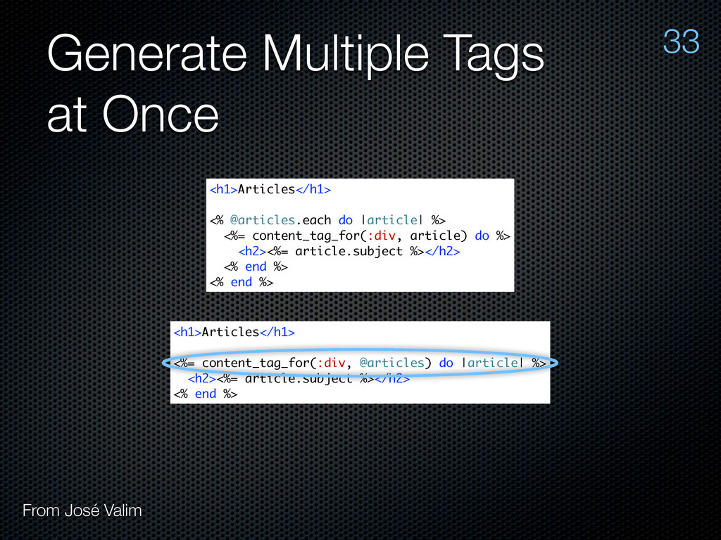 Generate Multiple Tags at Once 33 From José Val...