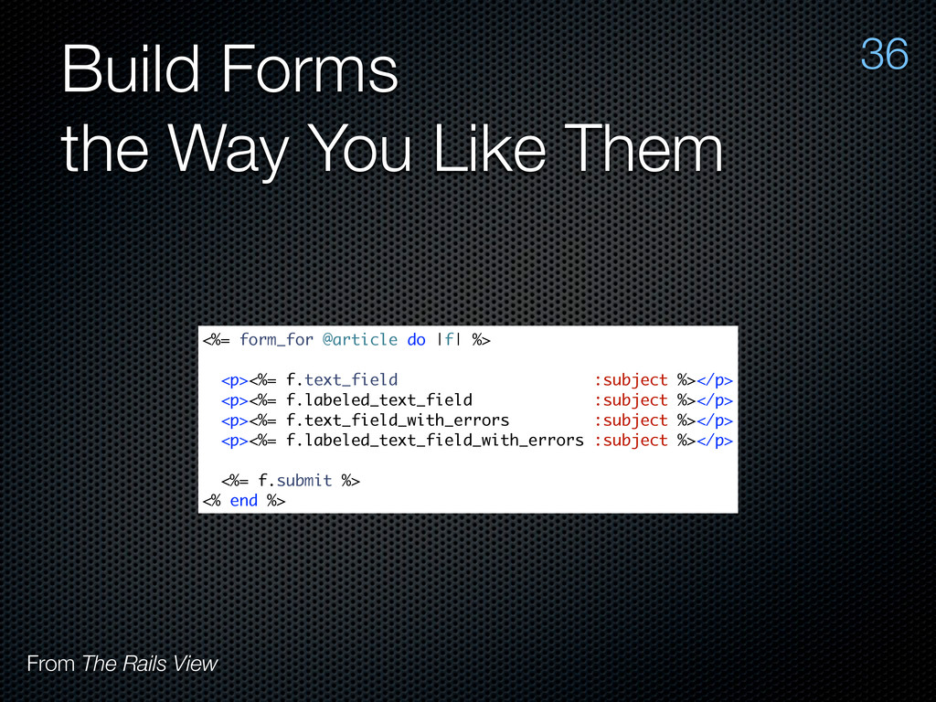 Build Forms the Way You Like Them 36 From The R...