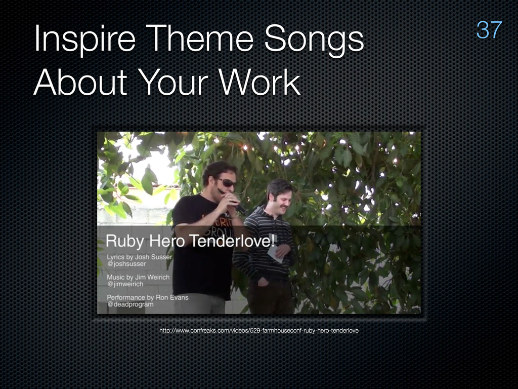 Inspire Theme Songs About Your Work http://www....