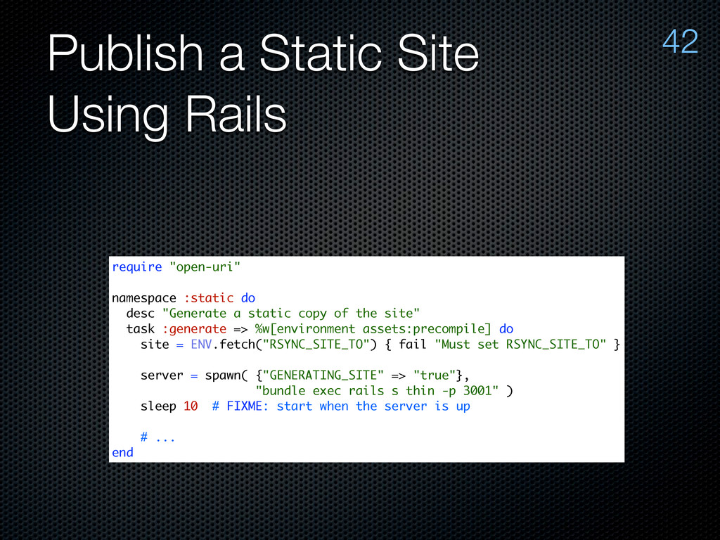 "Publish a Static Site Using Rails 42 require ""o..."