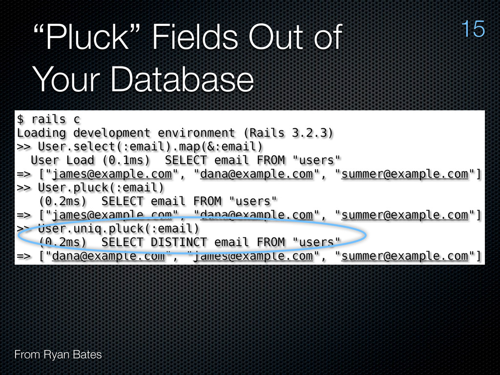 """Pluck"" Fields Out of Your Database 15 From Rya..."