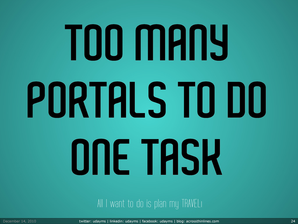 TOO MANY PORTALS TO DO ONE TASK All I want to d...