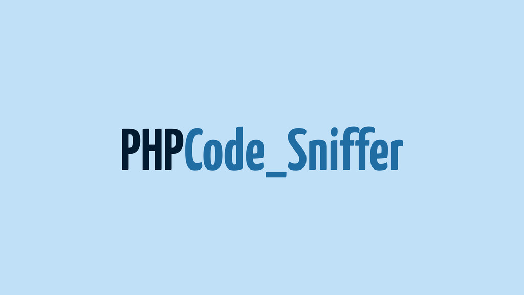 PHPCode_Sniffer