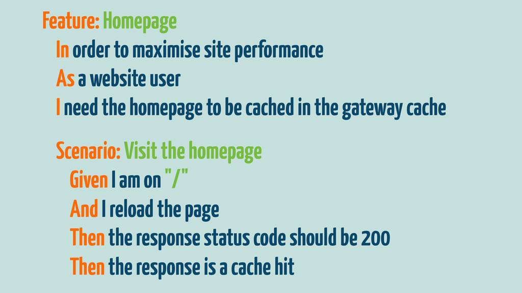 Feature: Homepage In order to maximise site per...