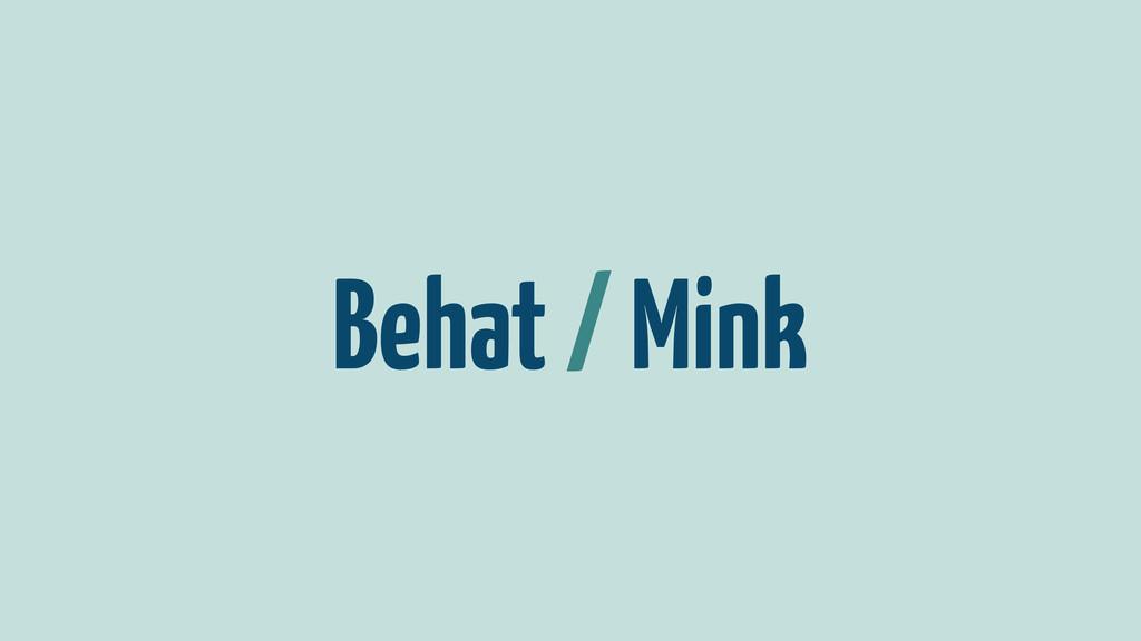 Behat / Mink